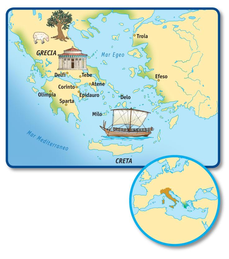 Magia greca for Greca adesiva bambini